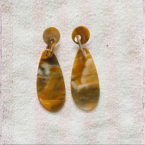 Acrylic Faux Stone Earrings